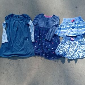 Mini Boden bundle of girls 2 dresses and 2 skirts